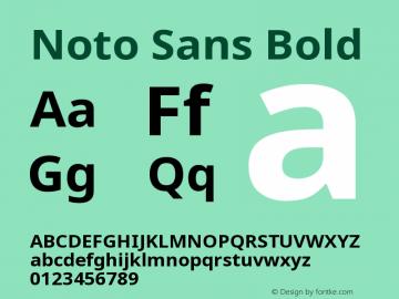 Noto Sans Bold Version 2.000;GOOG;noto-source:20170915:90ef993387c0图片样张