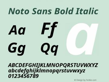 Noto Sans Bold Italic Version 2.000;GOOG;noto-source:20170915:90ef993387c0图片样张