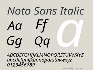 Noto Sans Italic Version 2.000;GOOG;noto-source:20170915:90ef993387c0图片样张