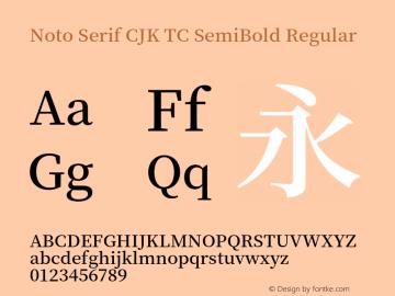Noto Serif CJK TC SemiBold Version 1.001;PS 1.001;hotconv 16.6.54;makeotf.lib2.5.65590图片样张