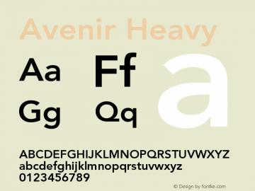 Avenir 85 Heavy Version 001.001图片样张