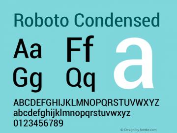Roboto Condensed Version 1.00000; 2011图片样张
