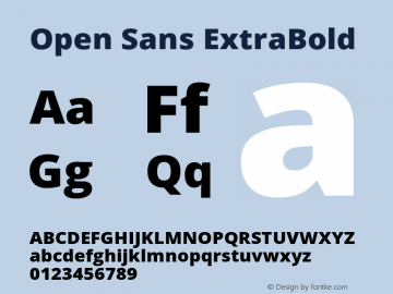 Open Sans ExtraBold Version 1.10图片样张
