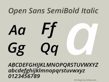 Open Sans SemiBold Italic Version 1.10图片样张