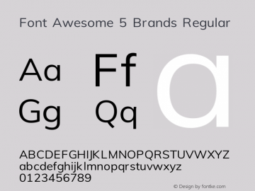 Font Awesome 5 Brands Regular 330.241 (Font Awesome version: 5.10.1)图片样张