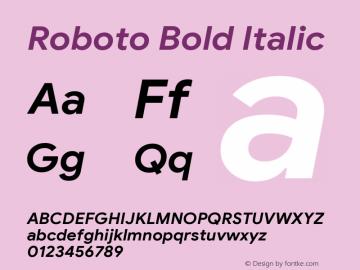 Roboto Bold Italic Version 2.003;August 2, 2019;FontCreator 11.5.0.2430 64-bit图片样张