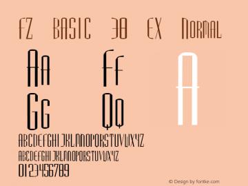 FZ BASIC 38 EX Normal 1.0 Thu Apr 21 19:45:55 1994 Font Sample