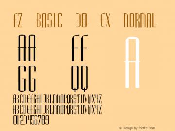 FZ BASIC 38 EX Normal 1.0 Tue Jan 25 23:22:24 1994 Font Sample