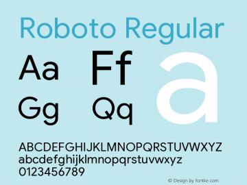 Roboto Version 2.003;August 4, 2019;FontCreator 11.5.0.2430 64-bit图片样张