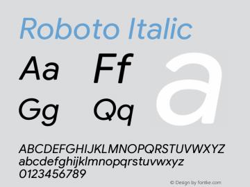 Roboto Italic Version 2.003;August 5, 2019;FontCreator 11.5.0.2430 64-bit图片样张