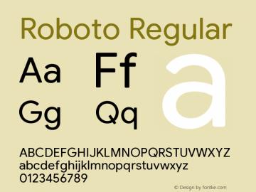 Roboto Version 2.003;August 5, 2019;FontCreator 11.5.0.2430 64-bit图片样张