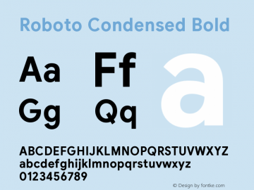 Roboto Condensed Bold Version 2.003;August 6, 2019;FontCreator 11.5.0.2430 64-bit图片样张