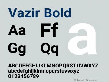 Vazir Bold Version 20.1.1图片样张