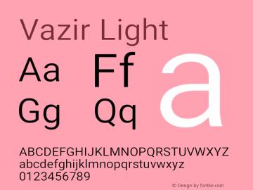 Vazir Light Version 20.1.1图片样张