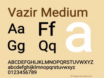 Vazir Medium Version 20.1.1图片样张