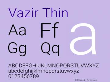 Vazir Thin Version 20.1.1图片样张