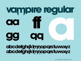 vampire Version 1.00;August 15, 2019;FontCreator 12.0.0.2522 32-bit图片样张