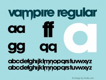 vampire Version 1.00;August 15, 2019;FontCreator 12.0.0.2522 32-bit图片样张