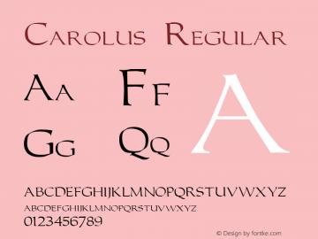 Carolus Version 1.00图片样张