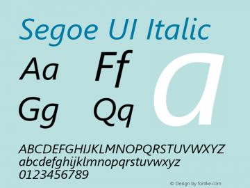 Segoe UI Italic Version 5.13图片样张