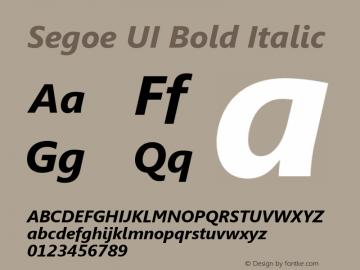 Segoe UI Bold Italic Version 5.13图片样张