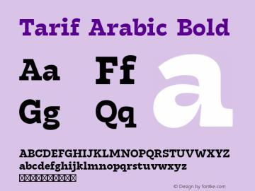 Tarif Arabic Bold Version 1.000 | w-rip DC20190820图片样张