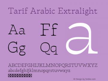 Tarif Arabic Extralight Version 1.000 | w-rip DC20190820图片样张