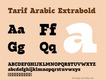 Tarif Arabic Extrabold Version 1.000 | w-rip DC20190820图片样张