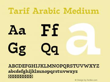 Tarif Arabic Medium Version 1.000 | w-rip DC20190820图片样张