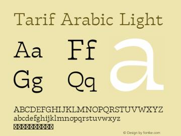 Tarif Arabic Light Version 1.000 | w-rip DC20190820图片样张