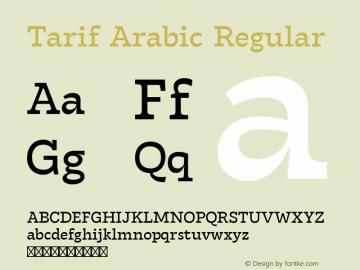 Tarif Arabic Regular Version 1.000 | w-rip DC20190820图片样张