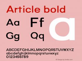 Article bold Version 1.000;hotconv 1.0.109;makeotfexe 2.5.65596;YWFTv17图片样张