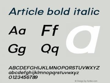 Article-bolditalic Version 1.000;hotconv 1.0.109;makeotfexe 2.5.65596;YWFTv17图片样张