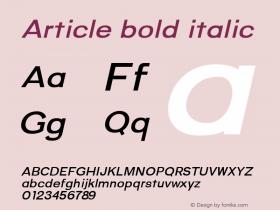 Article bold italic Version 1.000;hotconv 1.0.109;makeotfexe 2.5.65596;YWFTv17图片样张