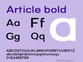 Article-bold Version 1.000;hotconv 1.0.109;makeotfexe 2.5.65596;YWFTv17图片样张
