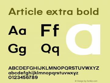 Article-extrabold Version 1.000;hotconv 1.0.109;makeotfexe 2.5.65596;YWFTv17图片样张