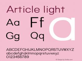 Article-light Version 1.000;hotconv 1.0.109;makeotfexe 2.5.65596;YWFTv17图片样张