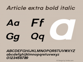 Article-extrabolditalic Version 1.000;hotconv 1.0.109;makeotfexe 2.5.65596;YWFTv17图片样张