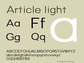 Article light Version 1.000;hotconv 1.0.109;makeotfexe 2.5.65596;YWFTv17图片样张