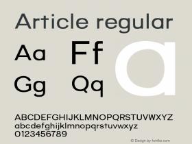 Article-regular Version 1.000;hotconv 1.0.109;makeotfexe 2.5.65596;YWFTv17图片样张