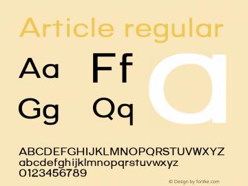 Article regular Version 1.000;hotconv 1.0.109;makeotfexe 2.5.65596;YWFTv17图片样张