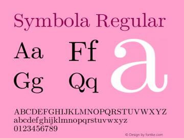 Symbola Regular Version 2.52图片样张
