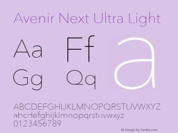 AvenirNext-UltraLight 8.0d2e1图片样张