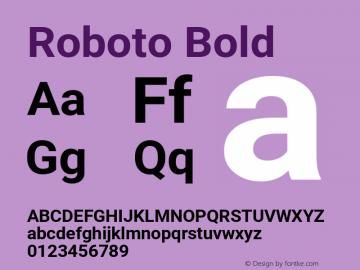 Roboto Bold Version 2.137; 2017图片样张