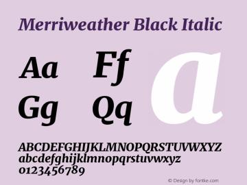 Merriweather Black Italic Version 2.002图片样张