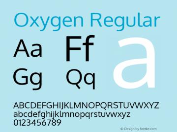 Oxygen Regular Version Release 0.2.3 webfont; ttfautohint (v0.93.3-1d66) -l 8 -r 50 -G 200 -x 0 -w