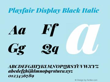 Playfair Display Black Italic Version 1.200; ttfautohint (v1.6)图片样张