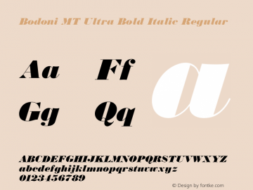 Bodoni MT Ultra Bold Italic Font,BodoniMT-UltraBoldItalic