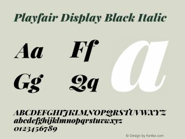 Playfair Display Black Italic Version 1.004;PS 001.004;hotconv 1.0.70;makeotf.lib2.5.58329; ttfautohint (v0.96) -l 42 -r 42 -G 200 -x 14 -w