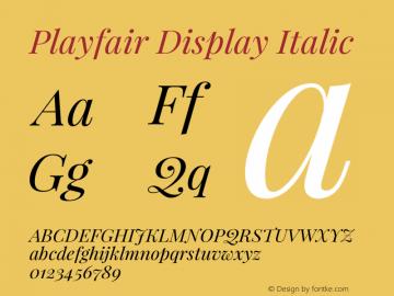 Playfair Display Italic Version 1.004;PS 001.004;hotconv 1.0.70;makeotf.lib2.5.58329; ttfautohint (v0.96) -l 42 -r 42 -G 200 -x 14 -w